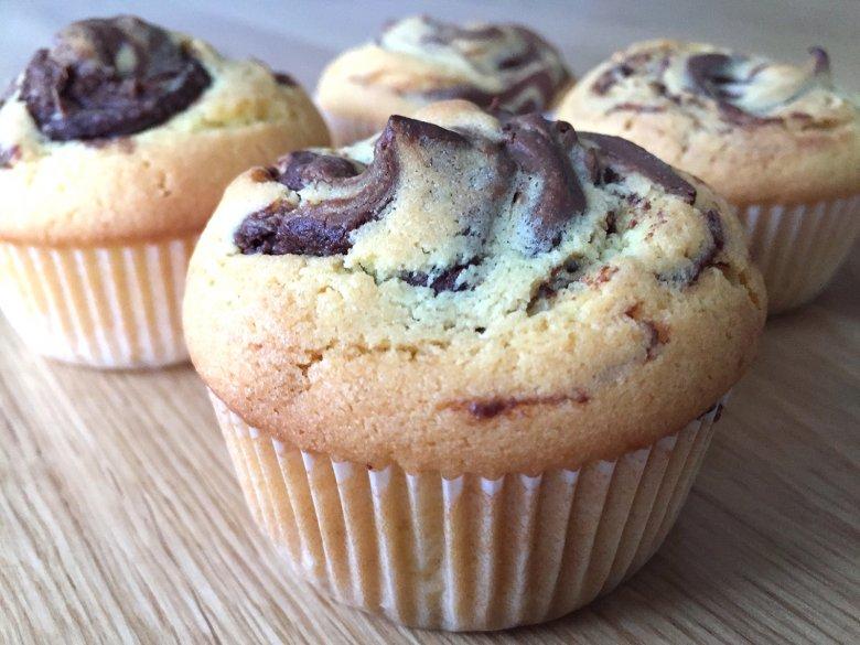 Muffins mit Nutella