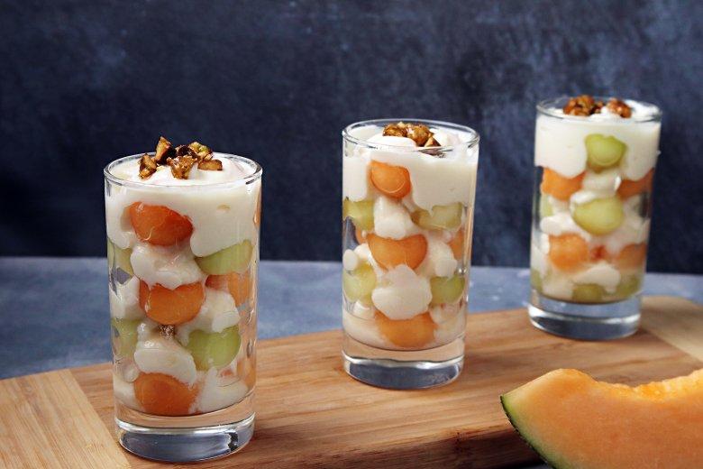 Joghurt mit Melonen