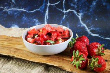 Erdbeeren mit Pfeffer
