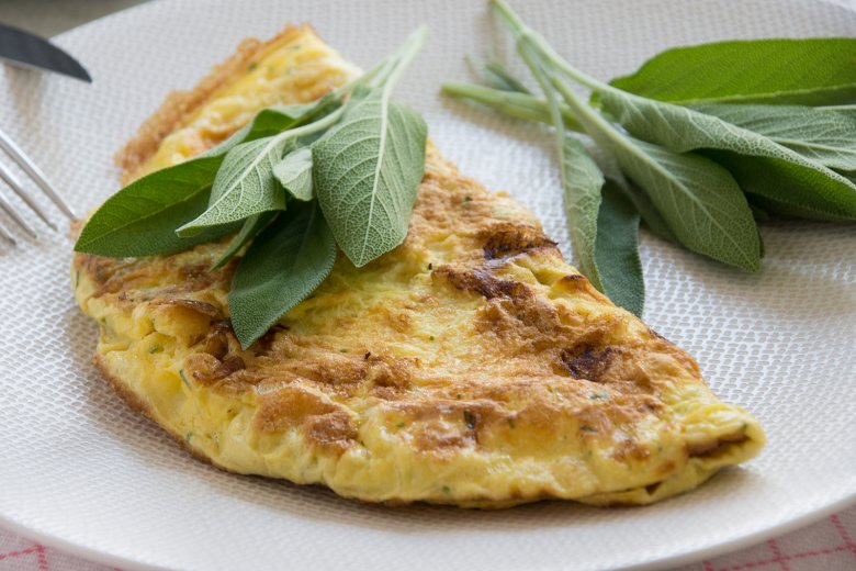 Omelett mit Salbei