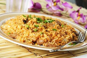 Gebratener Reis mit Pute