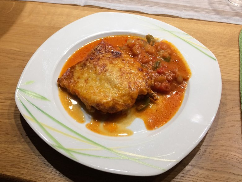 Paprikaschnitzel aus dem Ofen