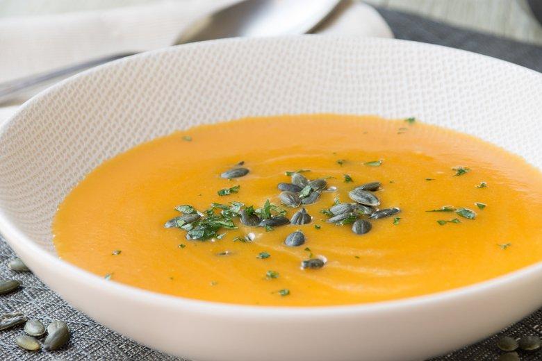 Kürbis-Karotten-Kokos-Ingwer-Suppe