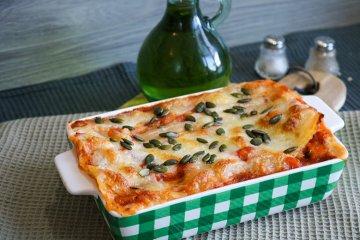 Kürbis-Lasagne mit Mozzarella