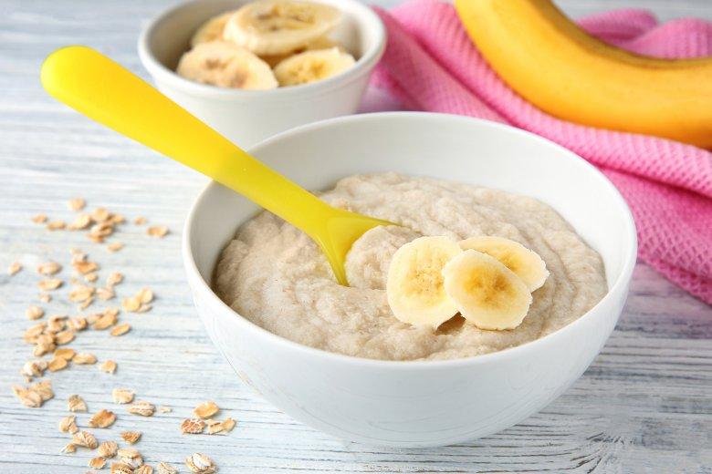 Einfacher Bananenbrei für Babys