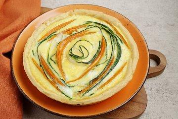 Kürbis-Zucchini-Quiche