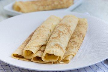 Pfannkuchen aus Dinkelmehl