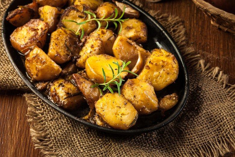 Rosmarinkartoffeln mit Zwiebeln