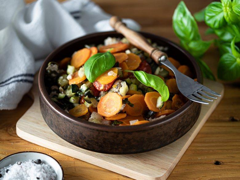 Putenbrust mit Tomaten und Zucchini