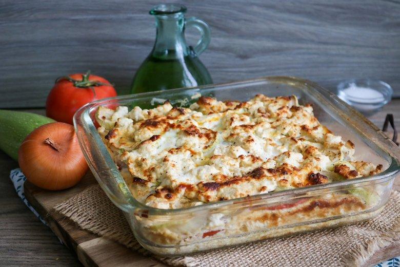Feta-Zucchini-Auflauf