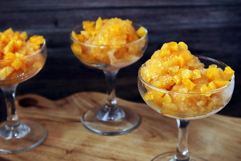Aprikosen Sorbet mit Limetten