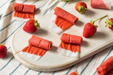 Fruchtleder aus Erdbeeren