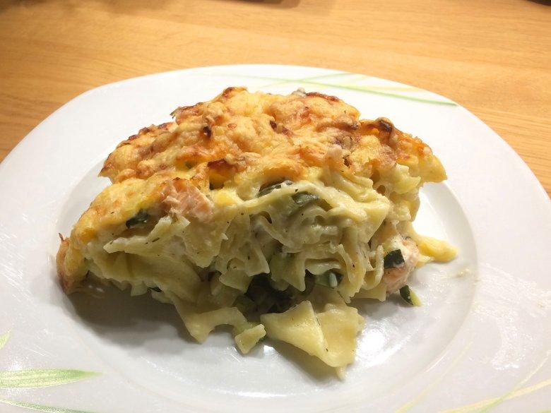 Zucchini-Lachs-Auflauf