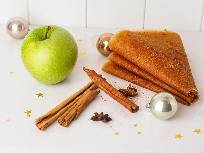 Weihnachtliches Fruchtleder aus Äpfeln