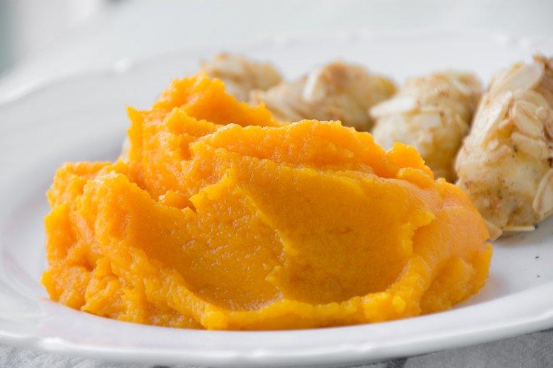 Steckrüben-Süßkartoffel-Püree