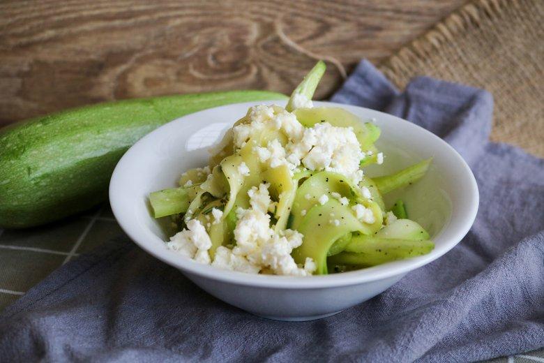 Lauwarmer Zucchinisalat