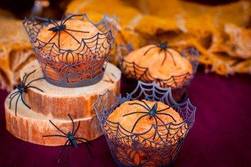 Spinnen-Kürbis-Käse-Muffins