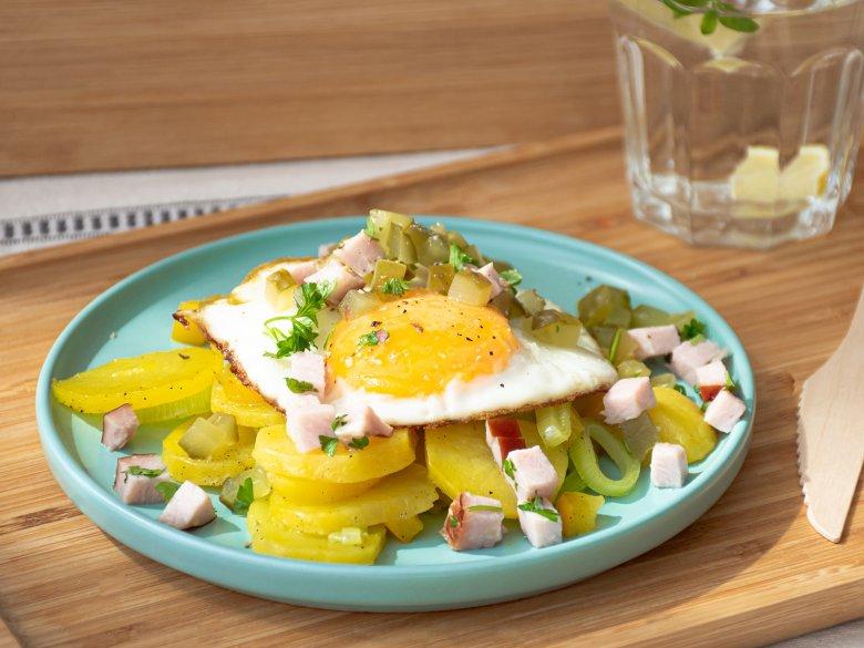 Kartoffel-Gemüsepfanne mit Schinken
