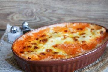 Zucchini-Tomaten-Lasagne