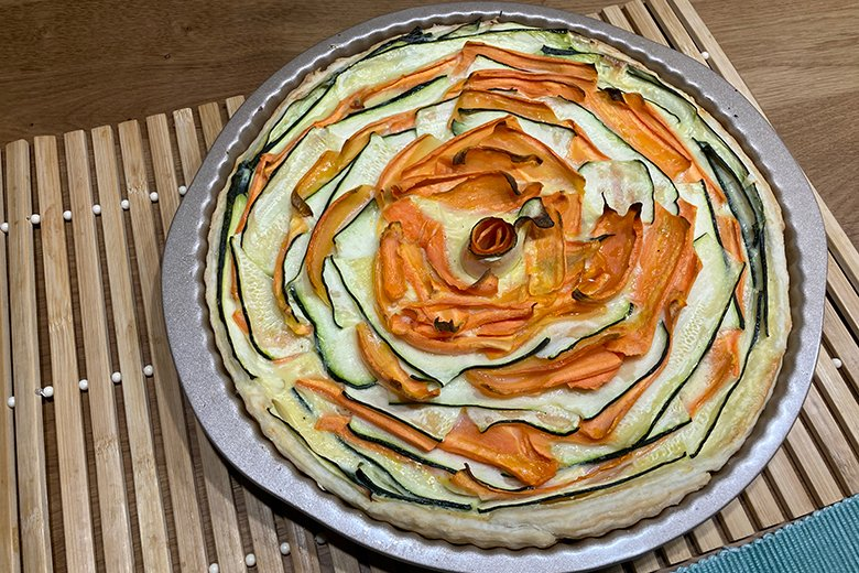 Zucchini-Karotten Quiche