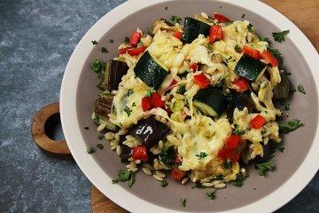 Gemüse-Mozzarella-Pfanne