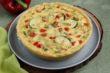 Paprika-Zucchini Quiche