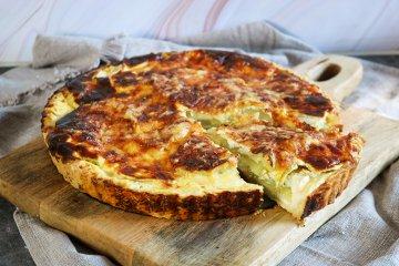 Zucchini Quiche mit Mürbteig