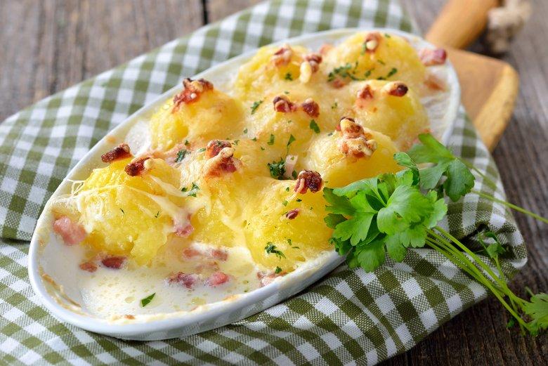 Kartoffelnocken in Sahnesauce