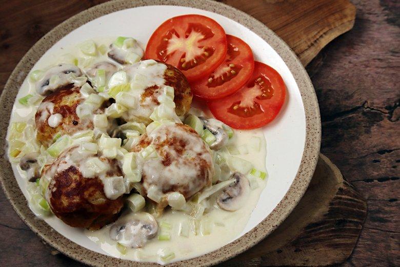 Kartoffelknödel mit Pilzen