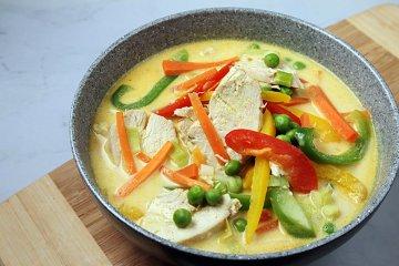 Asiatische Gemüsepfanne mit Putenfleisch