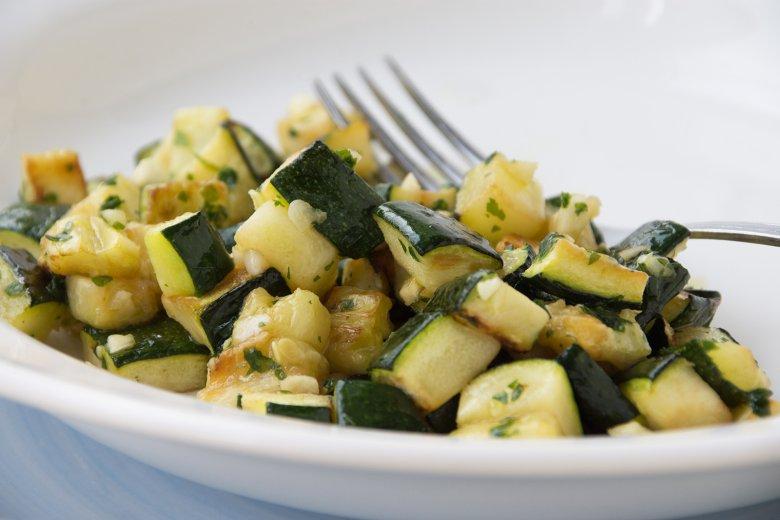 Zucchini mit Minze