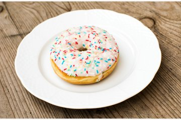 Weiße Donuts