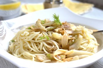 Fenchelspaghetti