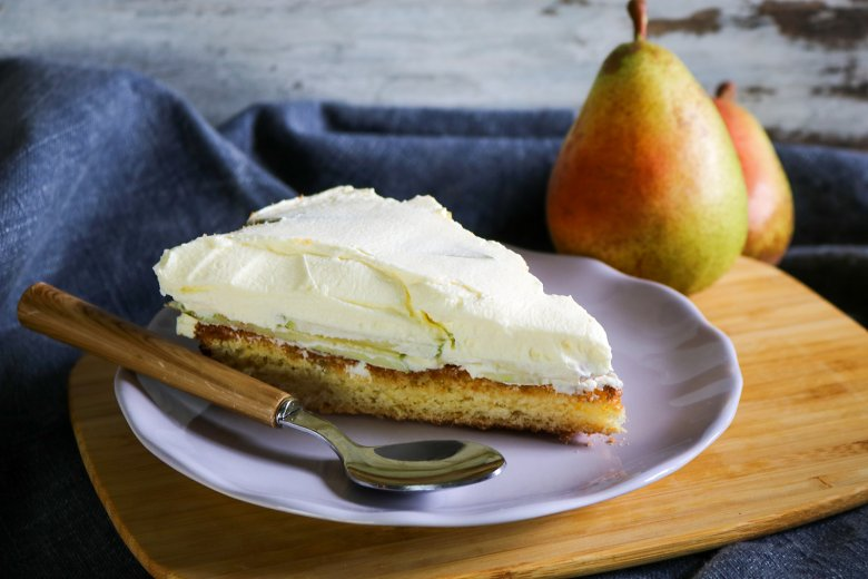Birnen-Sekt-Torte