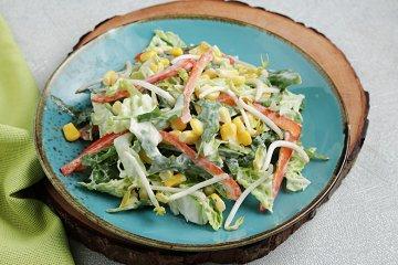 Chinakohl-Salat mit Joghurt-Dressing