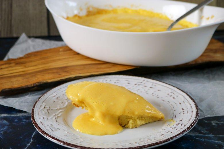 Biskuitpudding mit Chadeau-Sauce