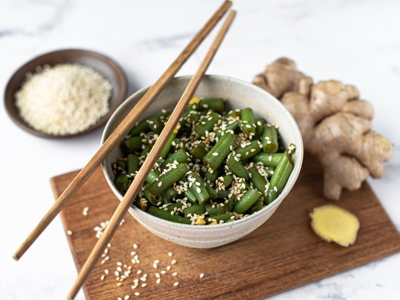 Grüne Bohnen mit Ingwer