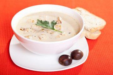 Vegetarische Maronensuppe