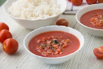 Tomaten-Eintopf mit Reis