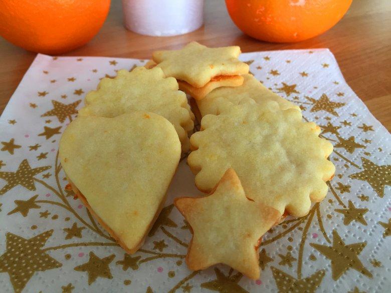 Einfache Orangenplätzchen