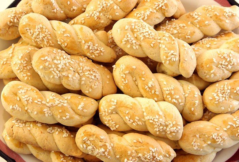 Griechische Sesamkekse