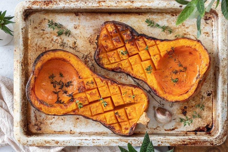 Pikanter Butternutkürbis aus dem Ofen