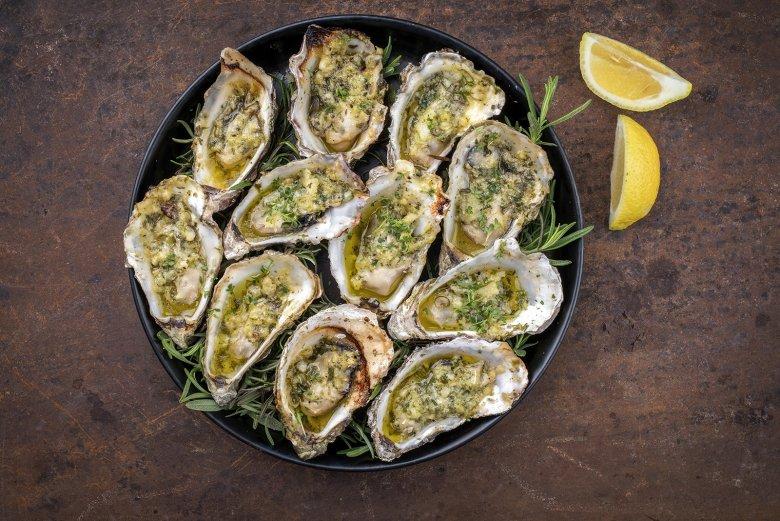 Überbackene Austern