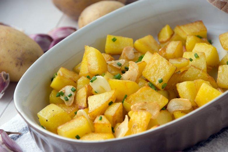 Knoblauchkartoffeln aus dem Backofen