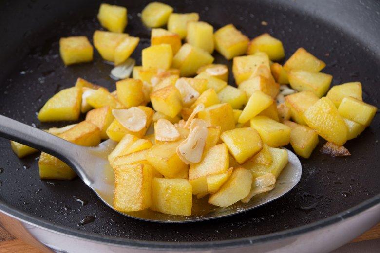 Einfache Knoblauchkartoffeln