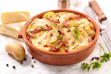 Tartiflette - Französischer Kartoffelauflauf