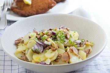 Bayerischer Kartoffelsalat mit Speck