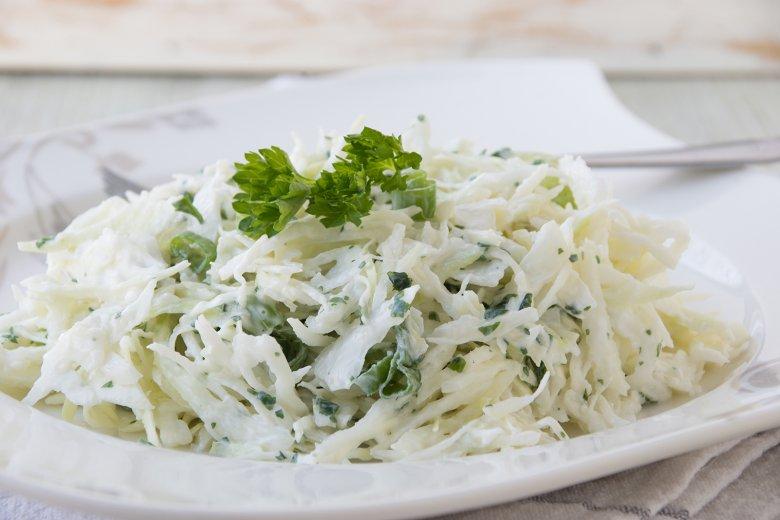 Kohlsalat mit Sahne
