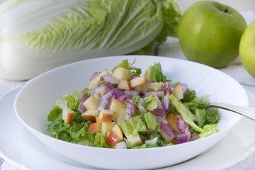 Chinakohlsalat mit Apfel