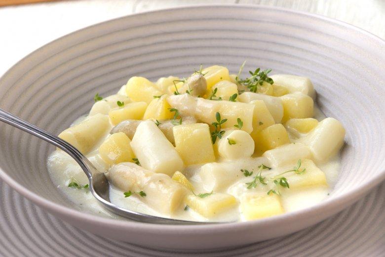 Spargelragout mit Kartoffeln